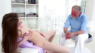 The bent over gorgeous bitch is fucked naughty hard
