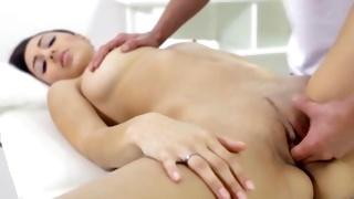 Fine tittied kinky slut gets her cunt fingered by a dude