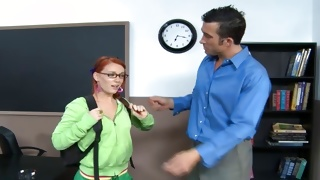 Kinky hottie is hugged by horrible teacher