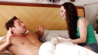Perfectly hot young girlie has awakened dirty guy