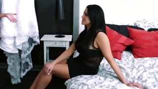 Juicy amazing cutie looks so passionate with dirty dude