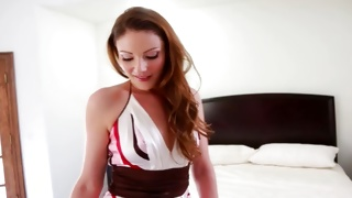 Pretty hot young bitch looks like an angel on free porn