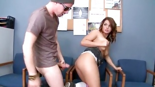Topless bitch in skirt is about being screwed