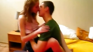 Horny guy tastes chavette jugs while that babe is sitting on his weiner