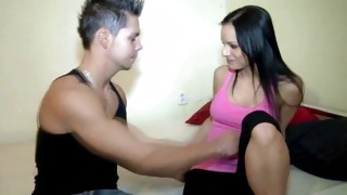 Man is watching on the flirty hussy that is drilled passionately deep