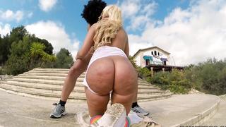 Big Booty chick twerking somewhere in Europe!